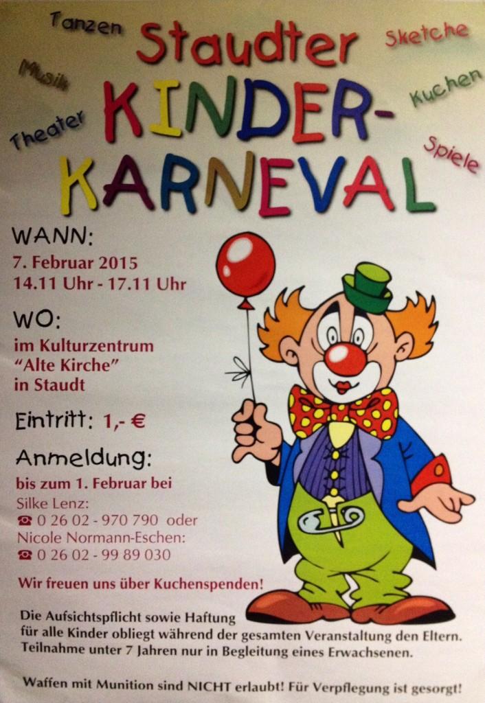 Kinder-Karneval Staudt 2015