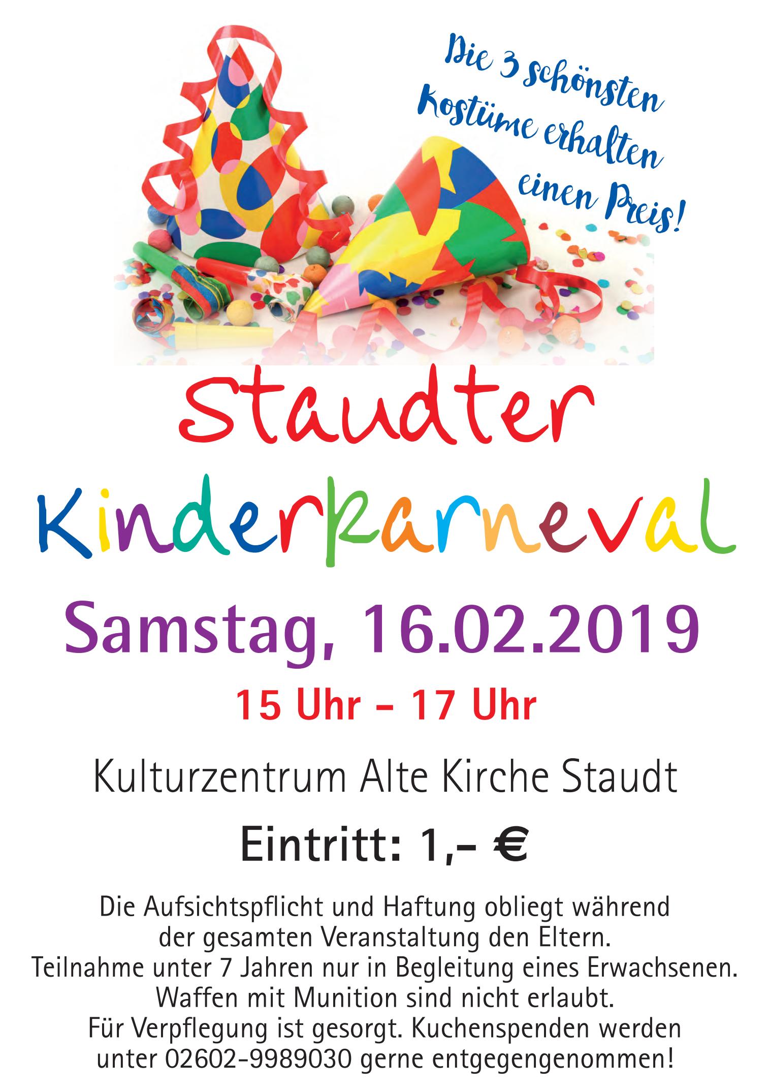 Staudter Kinderkarneval @ Alte Kirche Staudt